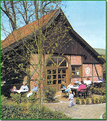 This large estate near the Dutch border is Margret's Bauernlaedchen und Cafe -  it is a favourite for  locals on bicycles - so stop there for a delicious cake in the cafe.